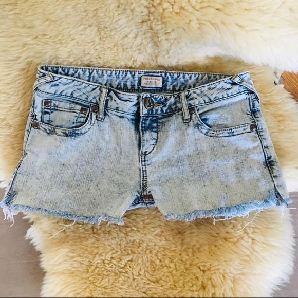 Free People Pants - Free People acid wash jean shorts